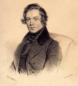 Robert Schumann, lithograph by Josef Kriehuber, in 1839